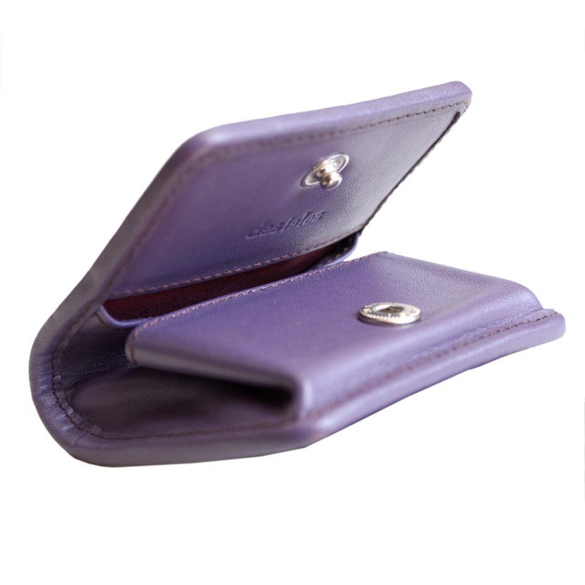 Shabby Chic Lavender Shagreen Coin Purse For Sale - Image 3 of 4