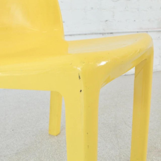 Plastic Vintage Yellow Atomic Mod Chair For Sale - Image 7 of 8