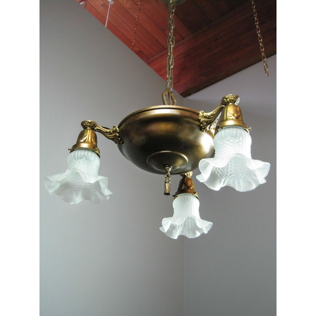 Original Pan Light Fixture (3-Light) - Image 4 of 8