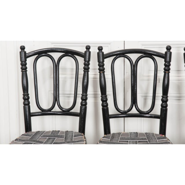 Thonet Set of Four Ebony Thonet Bentwood Side Chairs For Sale - Image 4 of 13