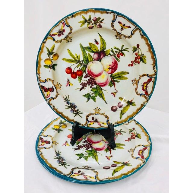 Vintage Floral & Fruit Motif Serving Plates - Set of 3 For Sale In Raleigh - Image 6 of 6