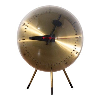 1940s George Nelson Tripod Table Clock For Sale