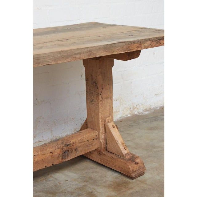 French French Farm Trestle Table For Sale - Image 3 of 5