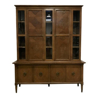 Mid-Century Modern China Hutch For Sale