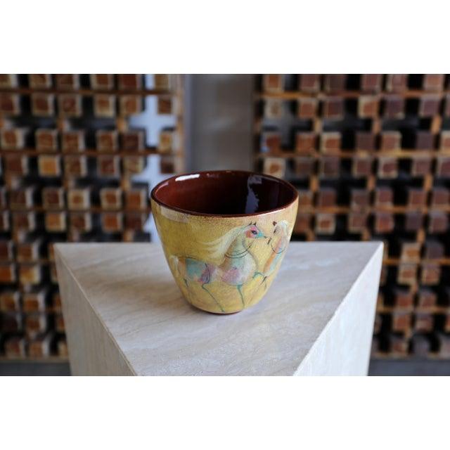 Vintage Mid Century Polia Pillin Ceramic Bowl For Sale - Image 4 of 7
