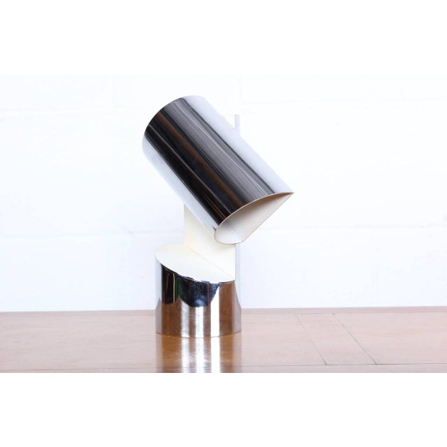 Chrome Pivoting Table Lamp by Arredoluce For Sale - Image 7 of 10