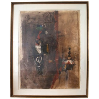 Vintage Mid-Century Modern, Aquatint Etching by Johnny Friedlaender For Sale