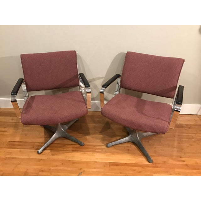Chrome Eames Style Chairs - A Pair For Sale - Image 4 of 9