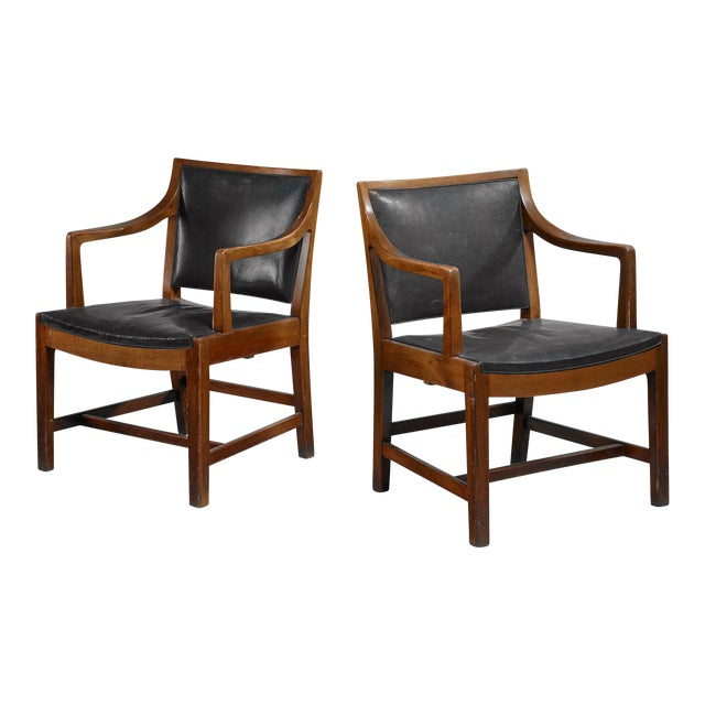 Pair of Kay Fisker attributed Danish armchairs, 1940s/50s For Sale