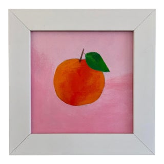 Contemporary Orange Acrylic Painting For Sale