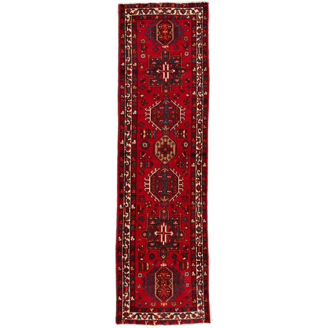 "Textile Apadana - Vintage Persian Heriz Runner Rug, 3'1"" X 10'11"" For Sale - Image 7 of 7"