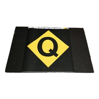 New York City Subway 'Q' Train Sign For Sale