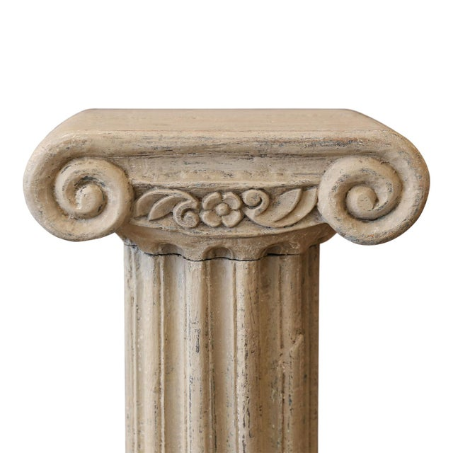 Neoclassical Revival Painted Wood Pedestal Table For Sale - Image 3 of 7