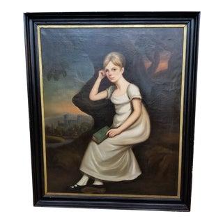American Folk Art Portrait For Sale