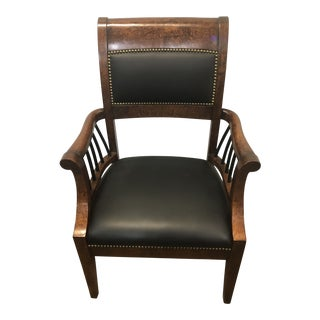 1970s Vintage William Switzer Burled Wood Chair For Sale