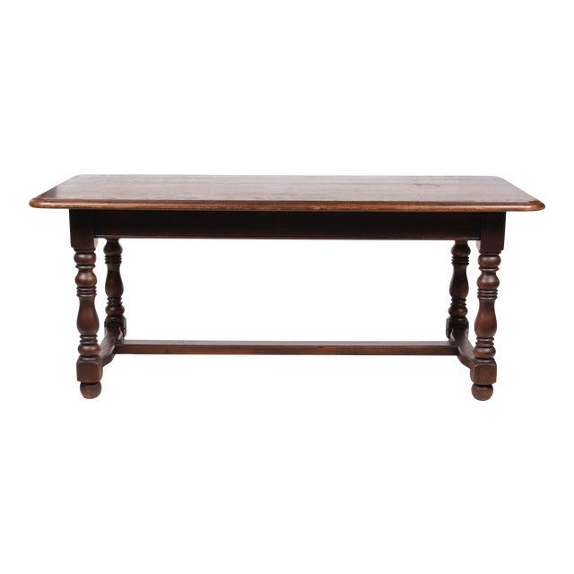 1930s Jacobean Style Oak Library Table