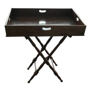 British Colonial Portable Bar Serving Table For Sale