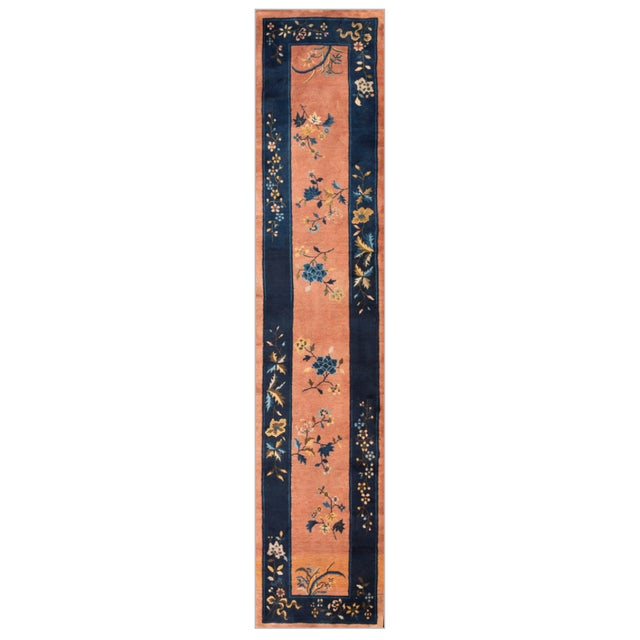"""1920s Antique Chinese Art Deco Rug 2'6"""" X11'9"""" For Sale - Image 5 of 5"""
