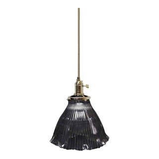 Antique Holophane Pendant Light For Sale
