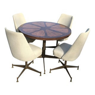 Mid-Century Round Table Set For Sale