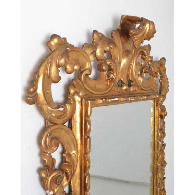 Rococo Large Rococo Style Giltwood Mirror Italy circa 1950s For Sale - Image 3 of 7