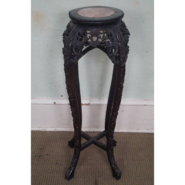Vintage Chinese Carved Plant Stand - Image 7 of 10