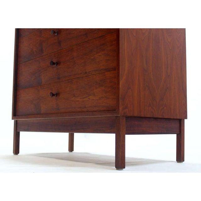 George Nelson Mid Century Modern Walnut Four Drawer Bachelor Dresser For Sale - Image 4 of 9