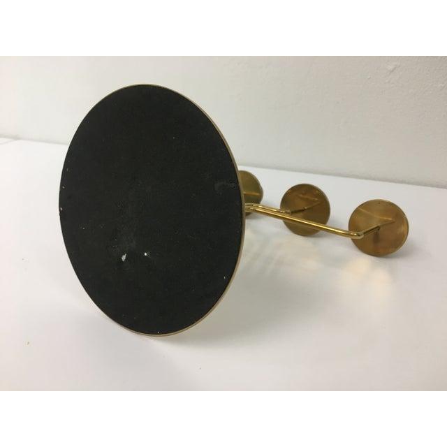 Brass Mid-Century Modern Style 4-Arm Brass Candelabra For Sale - Image 8 of 12