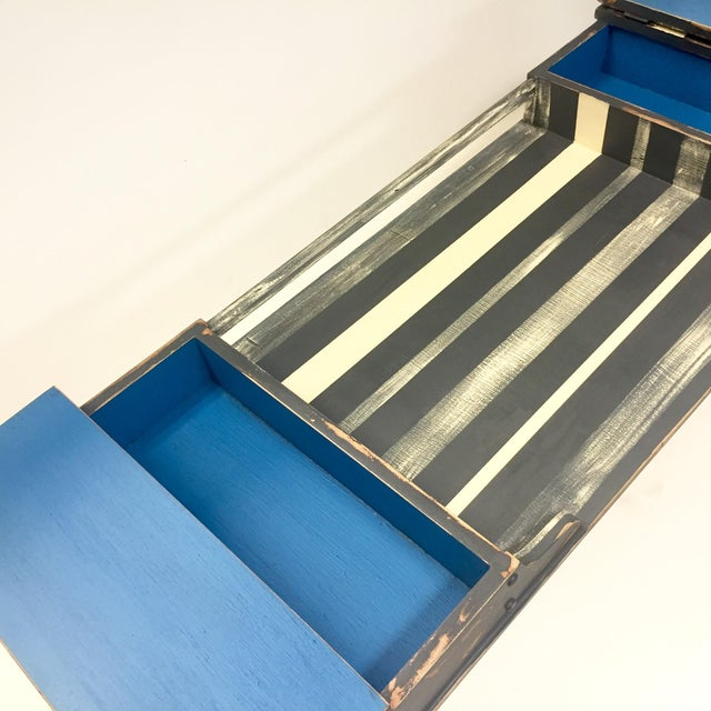 Striped Storage Coffee Table - Image 9 of 9