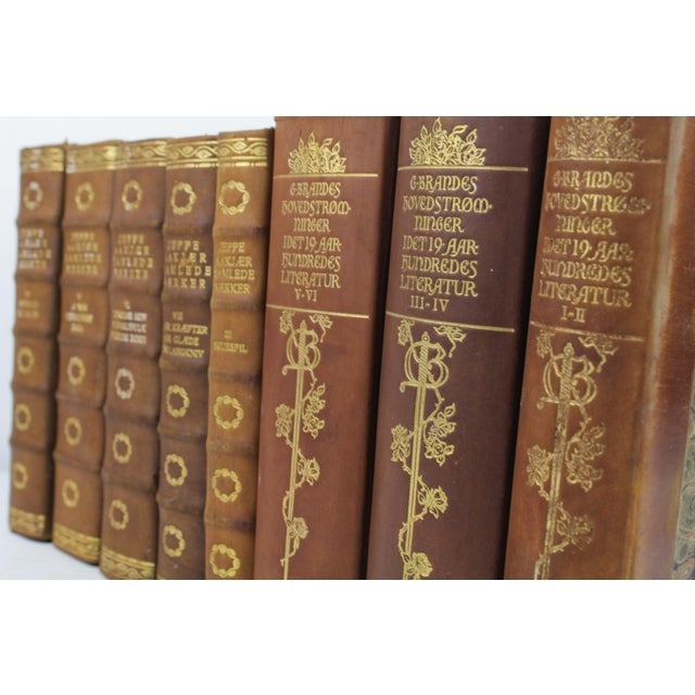 Art Deco Leather-Bound Books - Set of 8 - Image 3 of 3