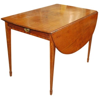 1820 English Mahogany Empire Style Pembroke Table