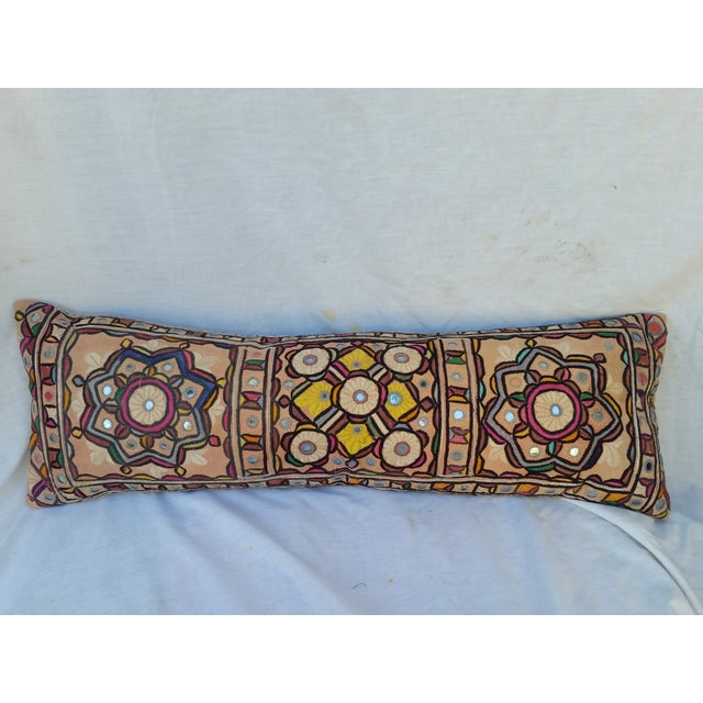 Hand Embroidered Rajasthani Lumbar Pillow - Image 2 of 5