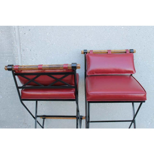 1970s Cleo Baldon Style Bar Stools-a Pair For Sale - Image 5 of 9