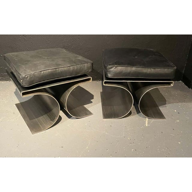Pair of François Monnet Style Benches / Footstools Mid Century Modern. For Sale - Image 10 of 10
