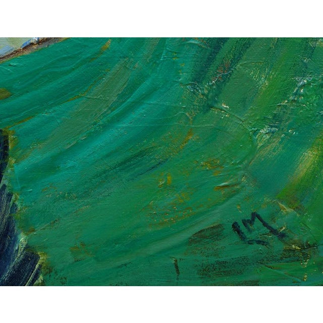 """2010s Original Laurie MacMillan """"A World With Water"""" Abstract Painting For Sale - Image 5 of 7"""