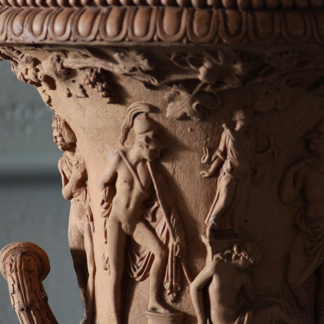 French Twin Handled Terracotta Urns For Sale - Image 3 of 4