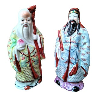 Andrea by Sadek Vintage Chinese Porcelain Figurines - a Pair For Sale