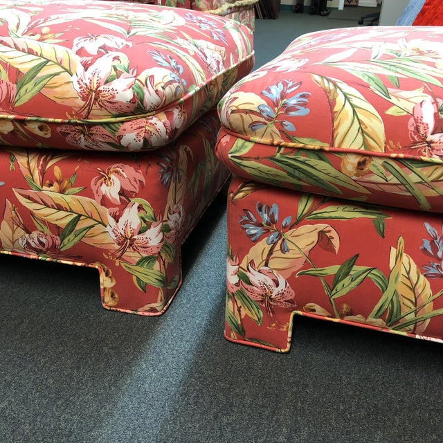Marge Carson Ottomans - A Pair - Image 4 of 12