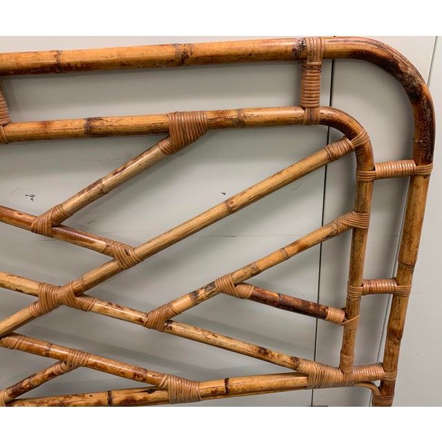 Bent Bamboo Full Size Headboard For Sale - Image 4 of 13
