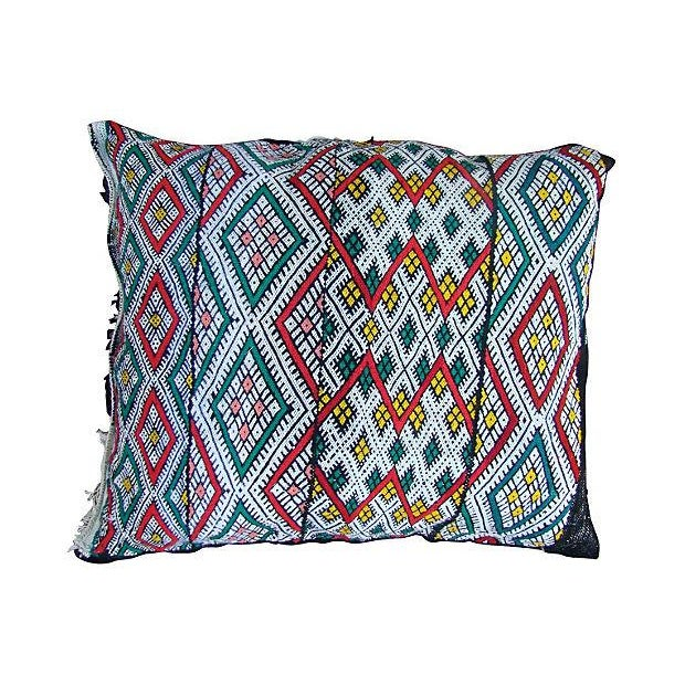 Moroccan Red & Green Diamonds Sham - Image 1 of 2