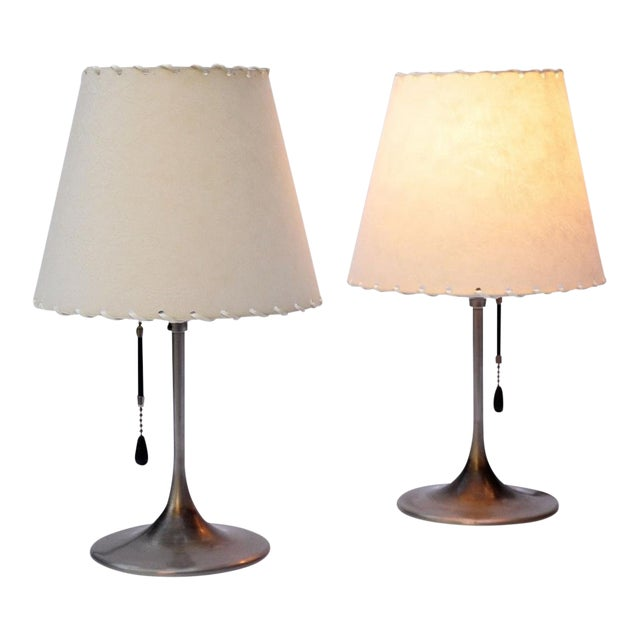 Pair of Bronzewarenfabrik 1930's Bedside Lamps For Sale
