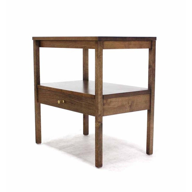 Mid-Century Modern Mid-Century Modern 1 One drawer End Table Stand For Sale - Image 3 of 6
