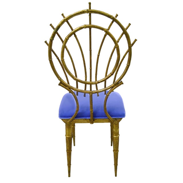 1960s Petite Gilt Bamboo-Style Chairs - A Pair - Image 5 of 7
