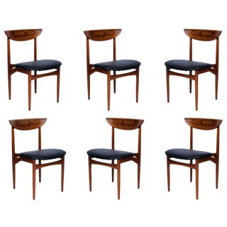 Set of 6 Rosewood Dining Chairs For Sale