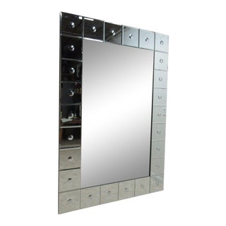 Rectangular Button Embellished Wall Mirror
