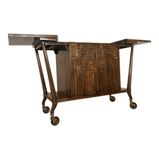 Bert England Johnson Furniture Bar Cart / Server For Sale