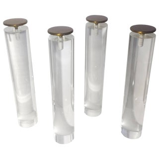Mid-Century Modern Pace Collection Lucite Coffee Table Legs - Set of 4 For Sale
