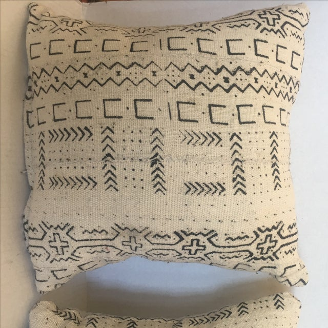 African Mud Cloth Pillows - a Pair - Image 5 of 6