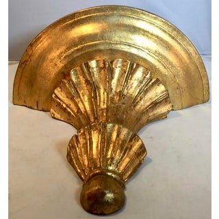 20th Century Rococo-Style Gold Leaf Wooden Shelf Sconce Preview