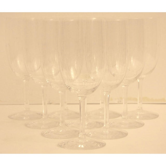 Etched Crystal Wine Glasses From Sweden - Set of 12 - Image 2 of 8